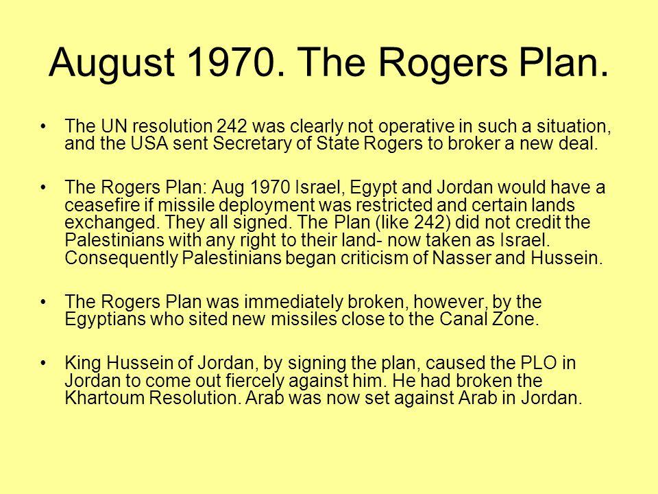 July 1971 Expulsion of Palestinian people from Jordan.