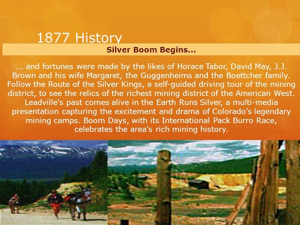 1877 History Silver Boom Begins......