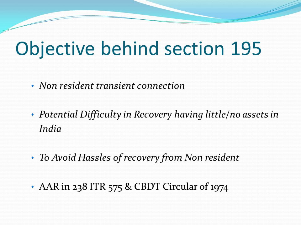 Objective behind section 206AA …………….