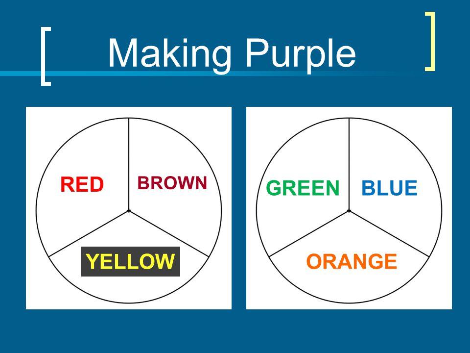 Making Purple BROWN YELLOW RED ORANGE BLUEGREEN