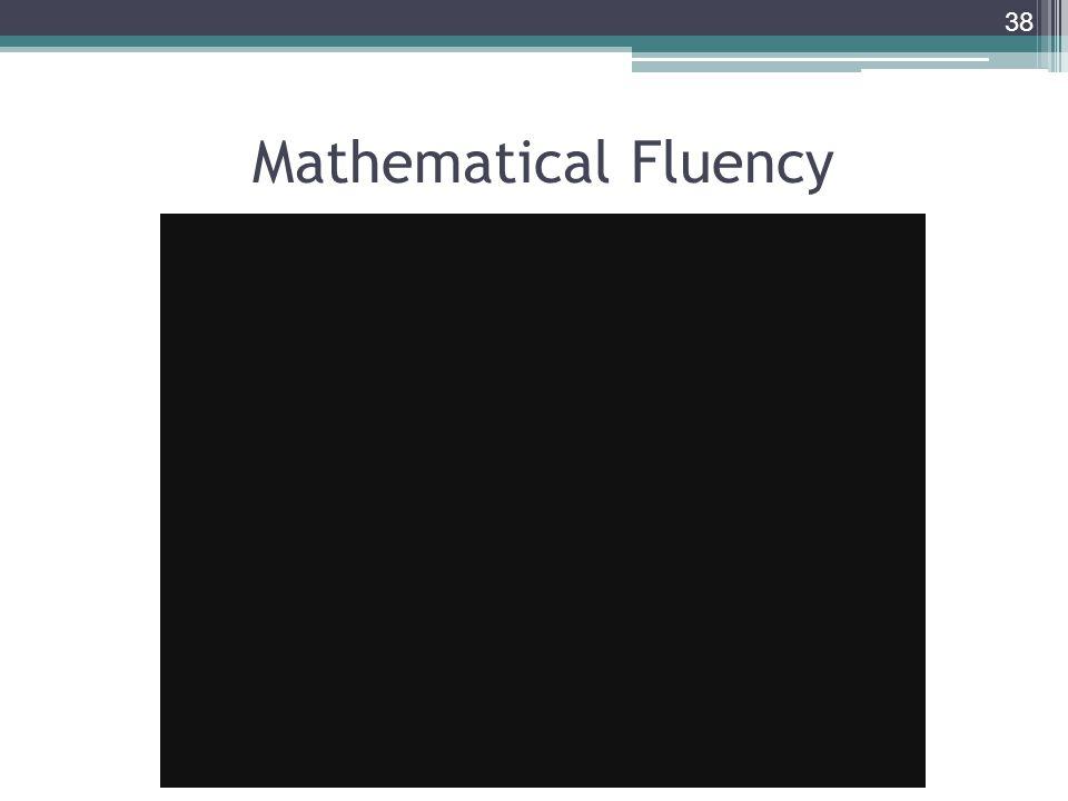 Mathematical Fluency 38
