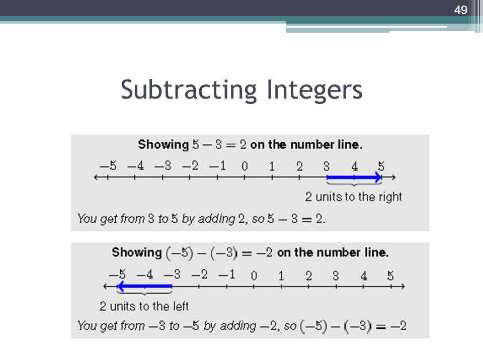 Subtracting Integers 49