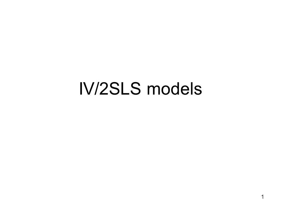 1 IV/2SLS models