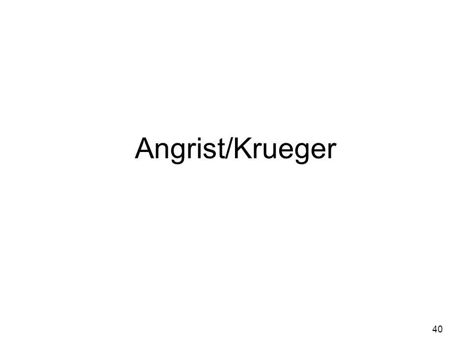 Angrist/Krueger 40
