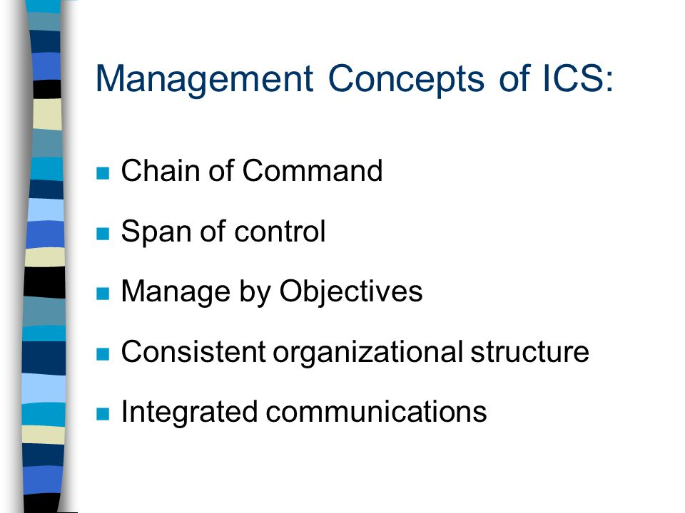 What are the first priorities you would establish as incident commander.