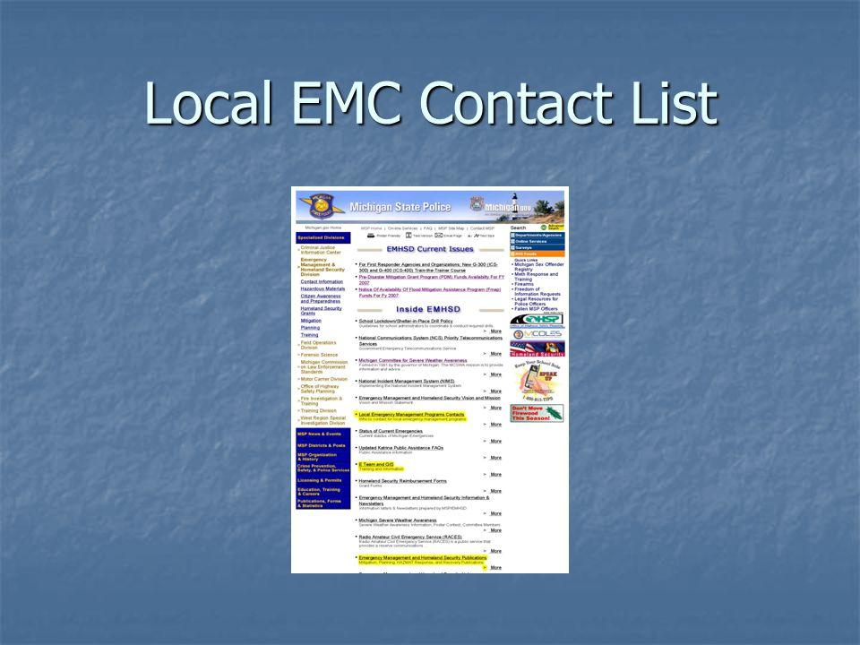 Local EMC Contact List