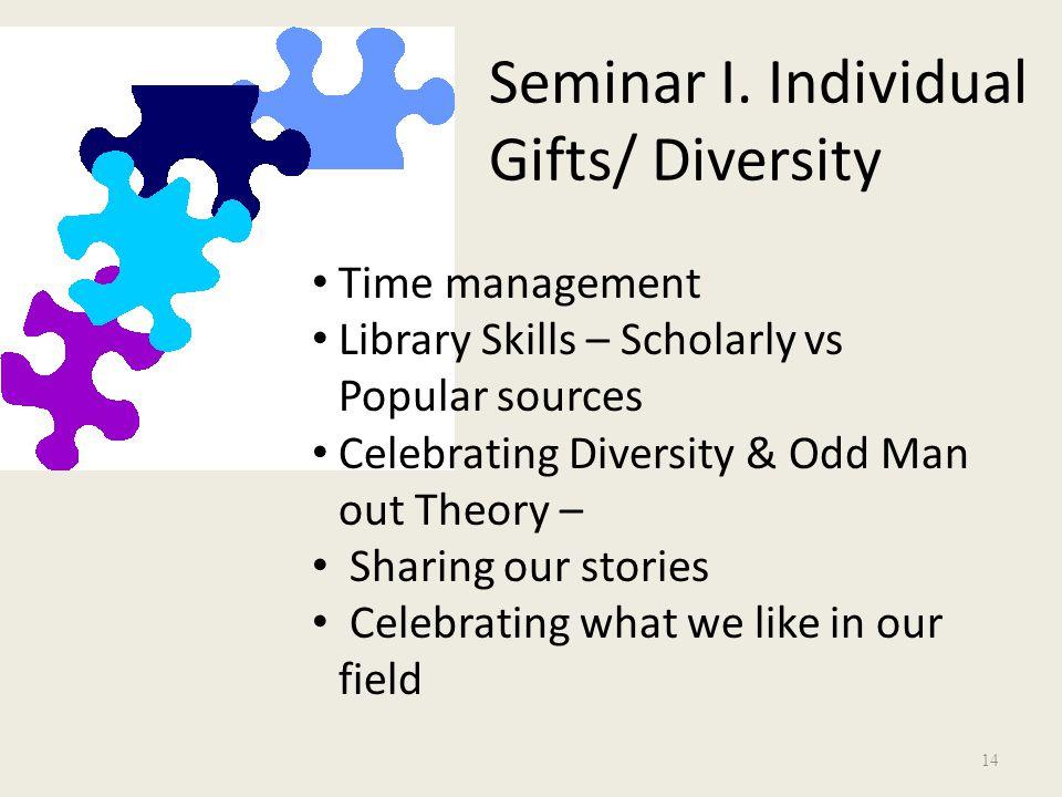Seminar I.