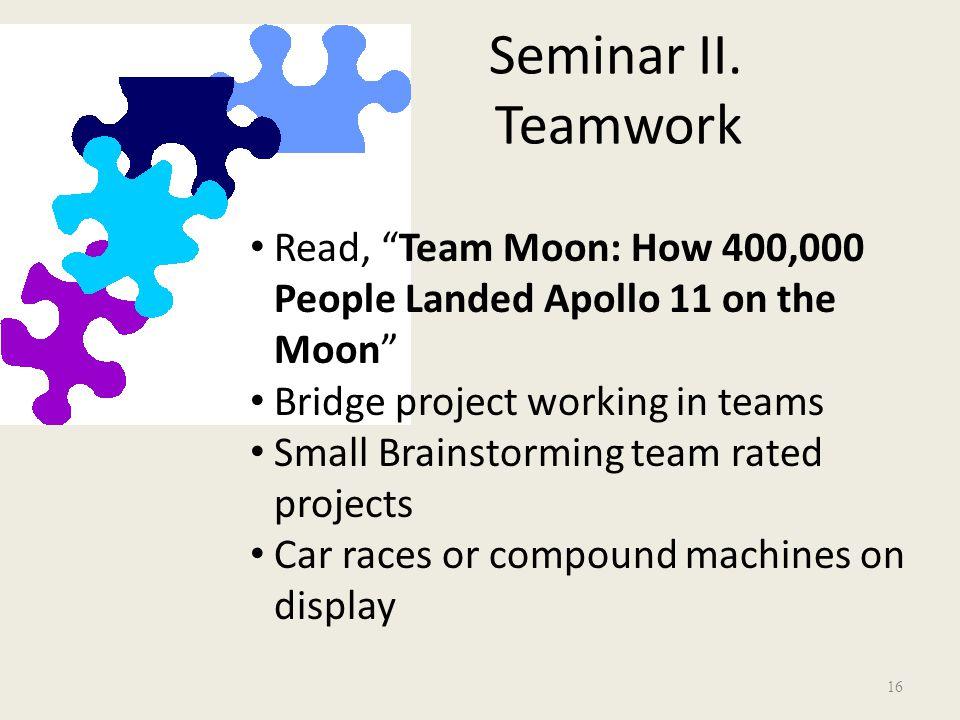 Seminar II.