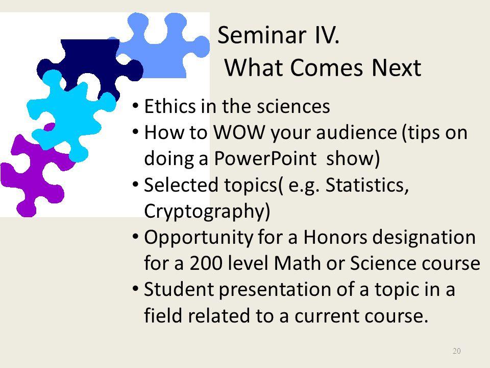 Seminar IV.