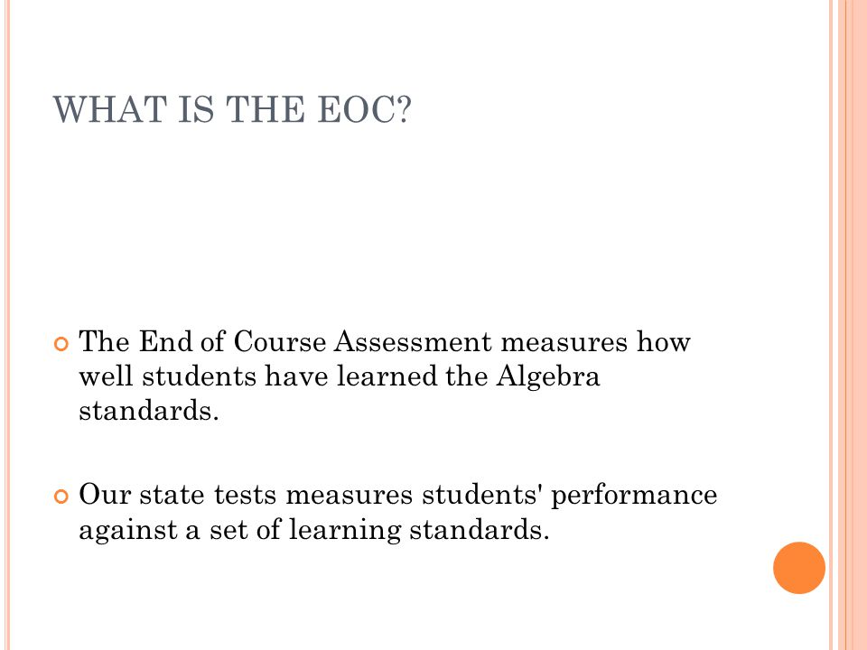 WHAT IS THE EOC.