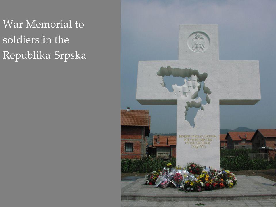 War Memorial to soldiers in the Republika Srpska