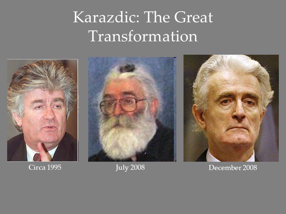 Karazdic: The Great Transformation Circa 1995July 2008 December 2008