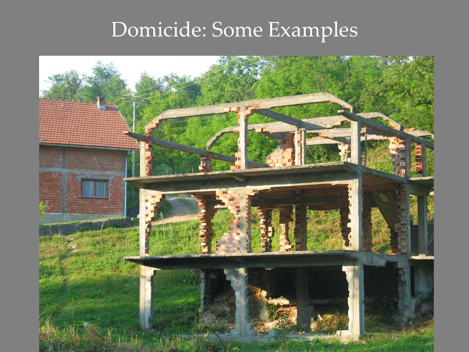 Domicide: Some Examples