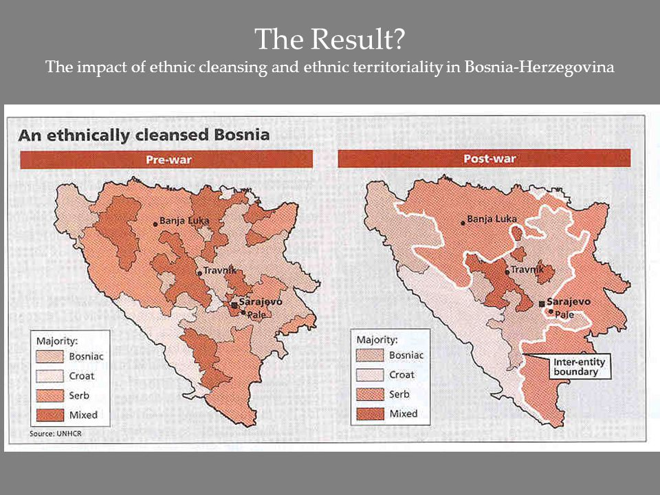 The Result? The impact of ethnic cleansing and ethnic territoriality in Bosnia-Herzegovina