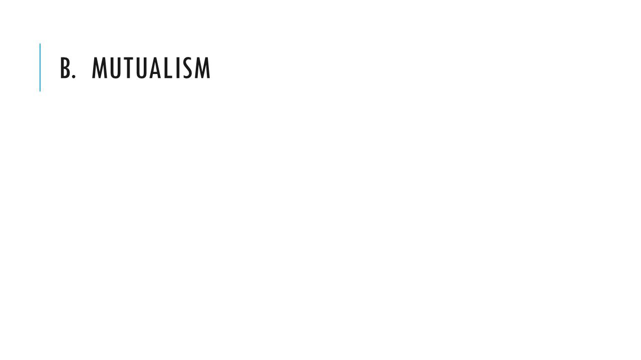 B. MUTUALISM