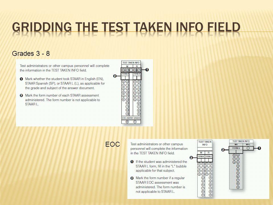 Grades 3 - 8 EOC