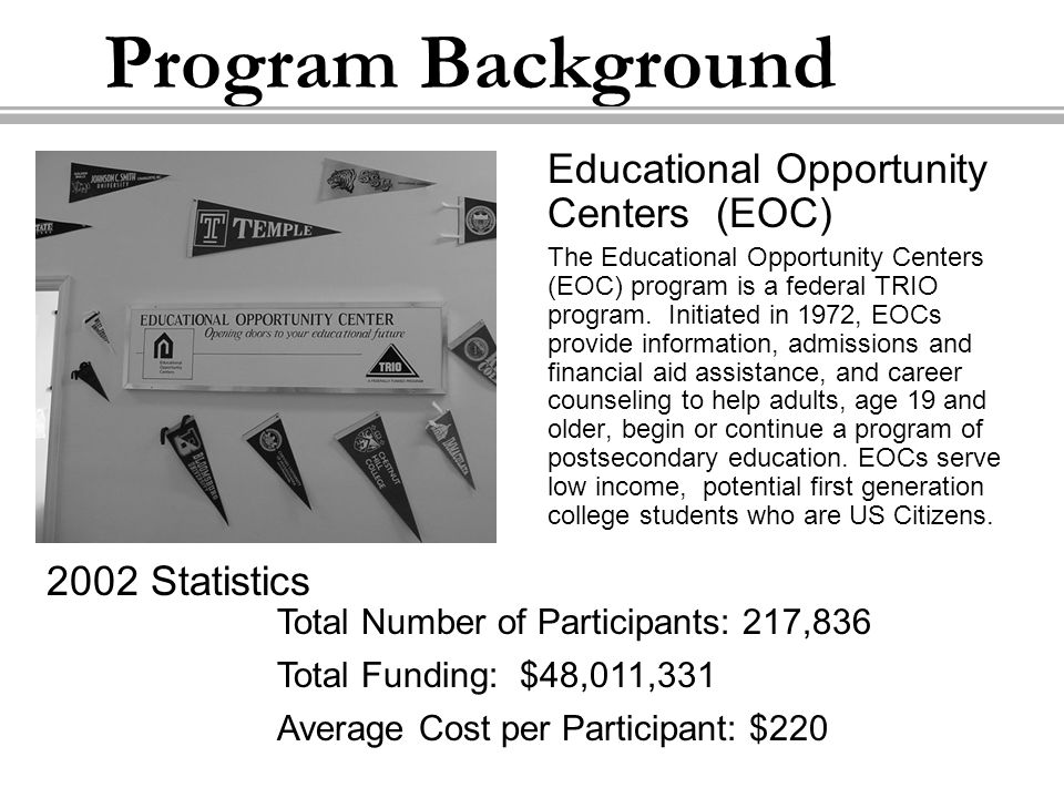 About TRIO A series of educational support programs called TRIO emerged from the United States Department of Education (USDE) in 1964 as a result of former President Lyndon B.