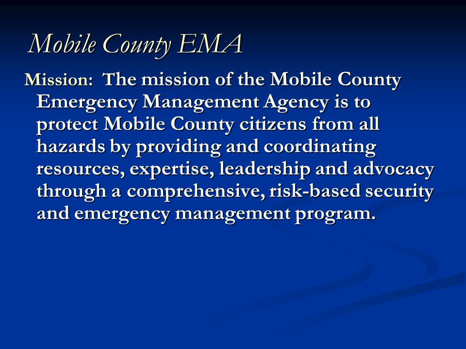 Emergency Management Cycle Four Phases of Emergency Management Four Phases of Emergency Management Mitigation Mitigation Preparedness Preparedness Response Response Recovery Recovery