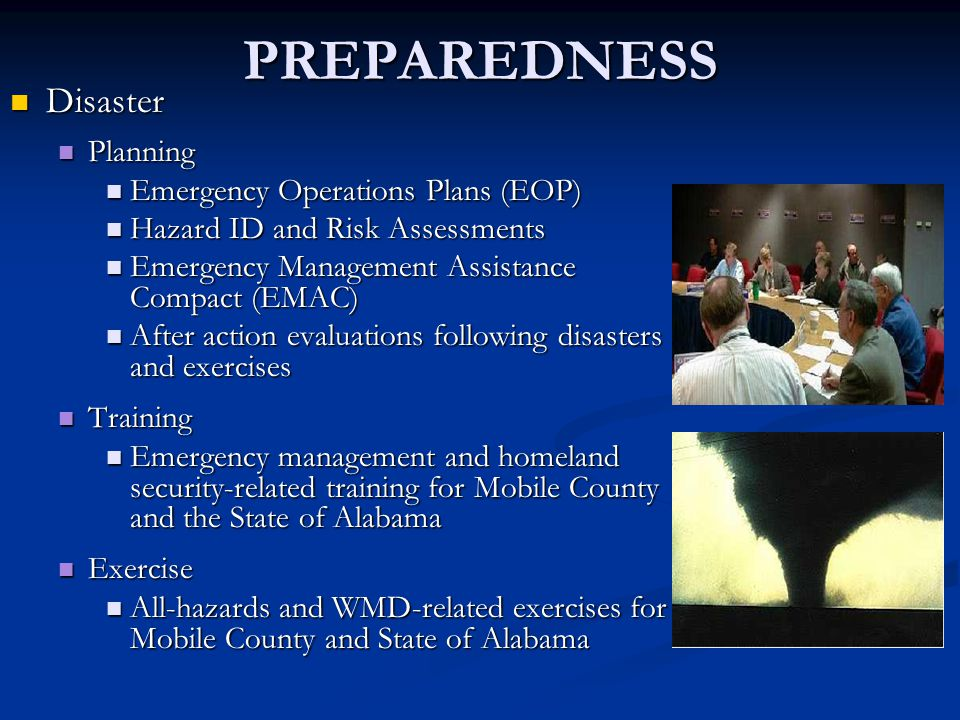 NIMS – Key Principles Six primary components that work together to provide a national framework for preventing, responding to and recovering from domestic incidents: Command and Management Command and Management Preparedness Preparedness Resource Management Resource Management Communications and Information Mngmt.