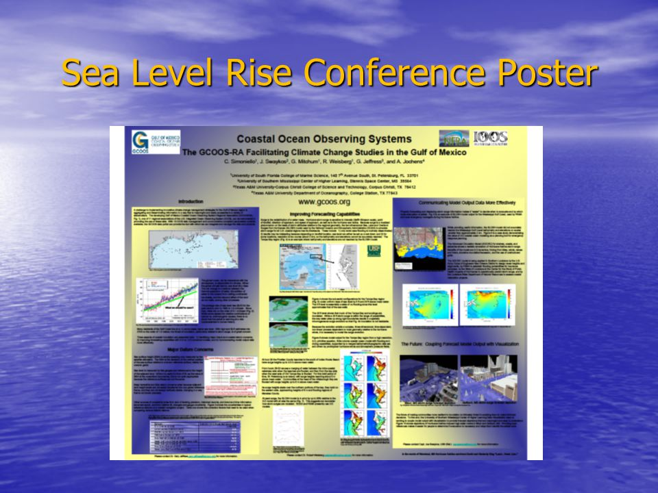 Sea Level Rise Conference Poster