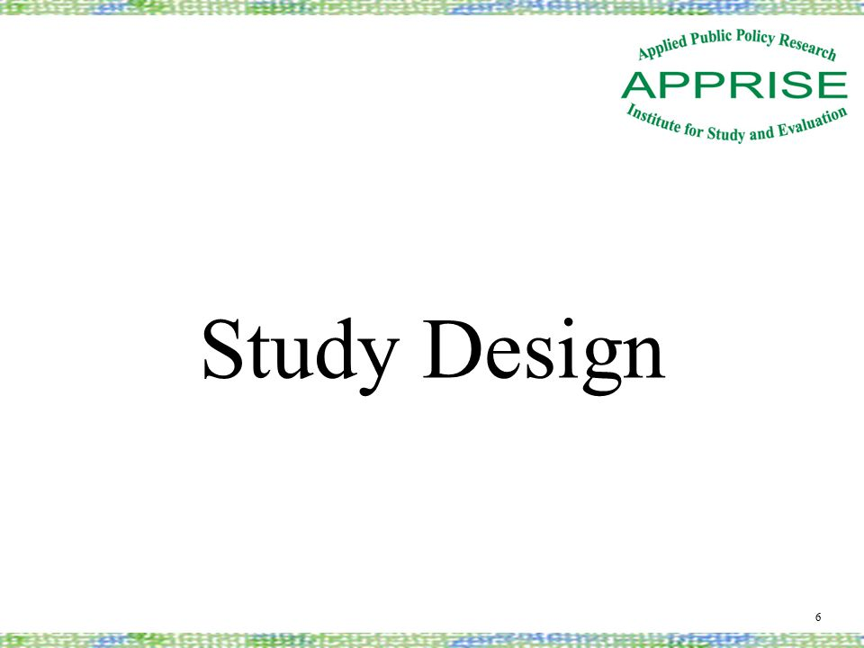 Study Design 6