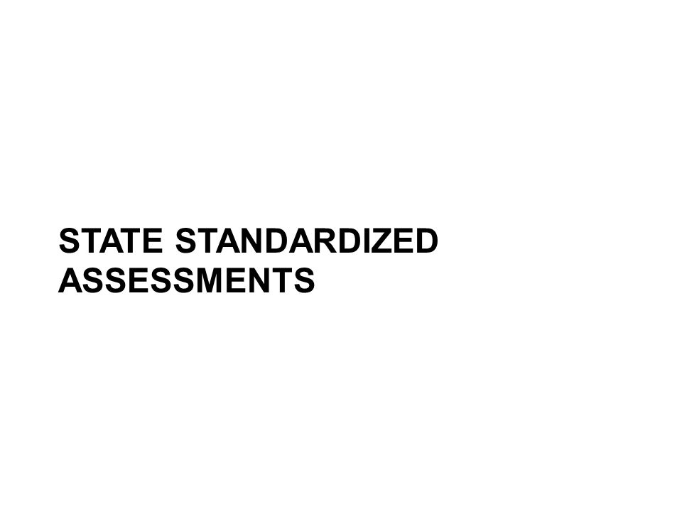 STATE STANDARDIZED ASSESSMENTS
