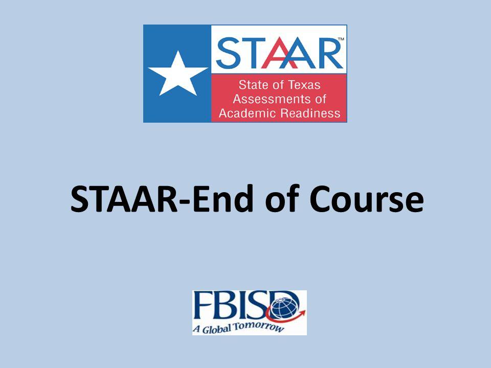 2013 STAAR Test English Writing—Monday, April 1 English Reading—Tuesday, April 2