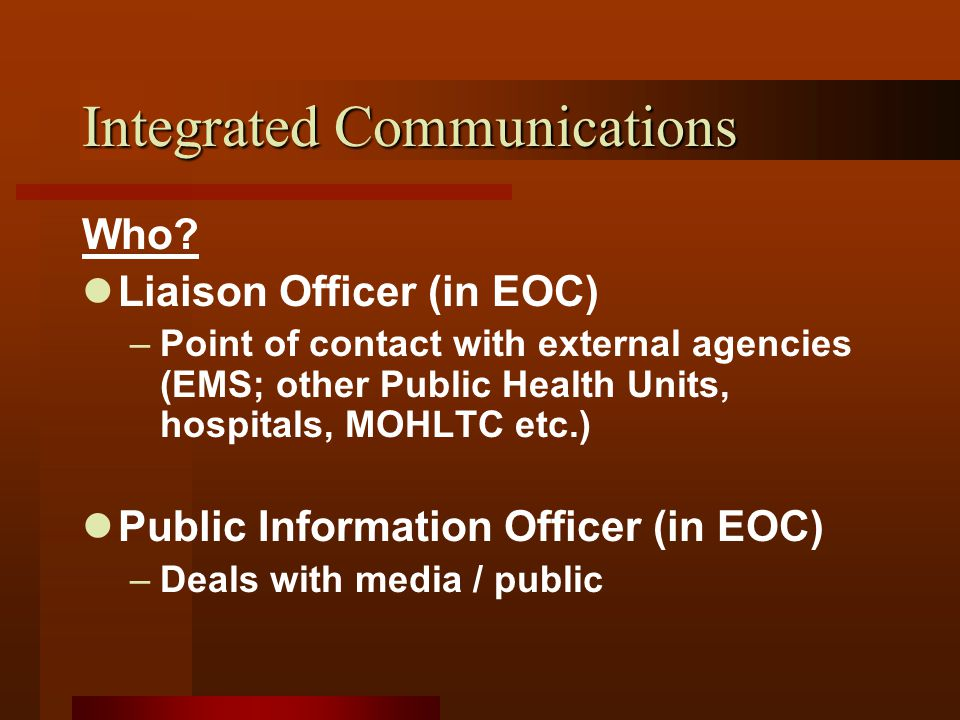 Integrated Communications Who.