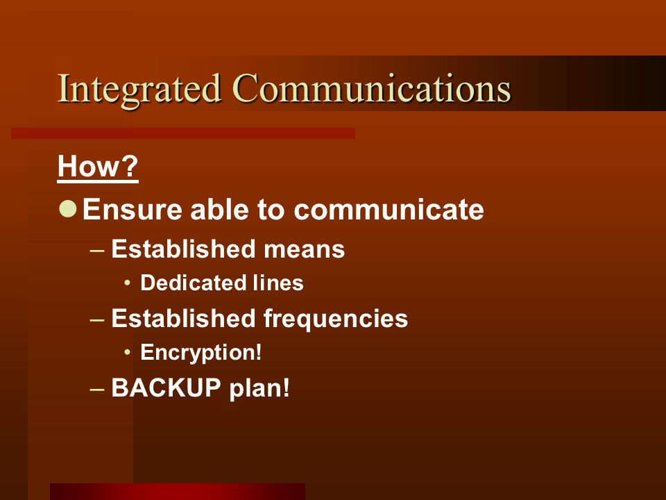 Integrated Communications How.