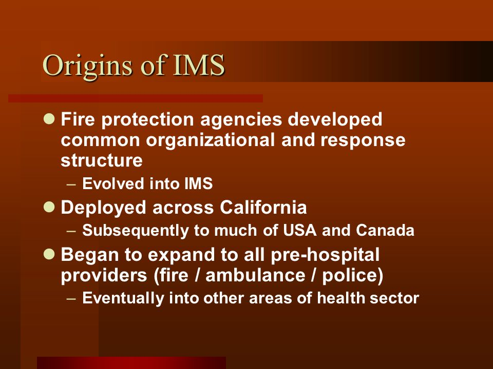 Initial Response Incident Commander = On-Call MOH Operations PH Nurse or Inspector PH Nurse or Inspector PlanningLogisticsFinance