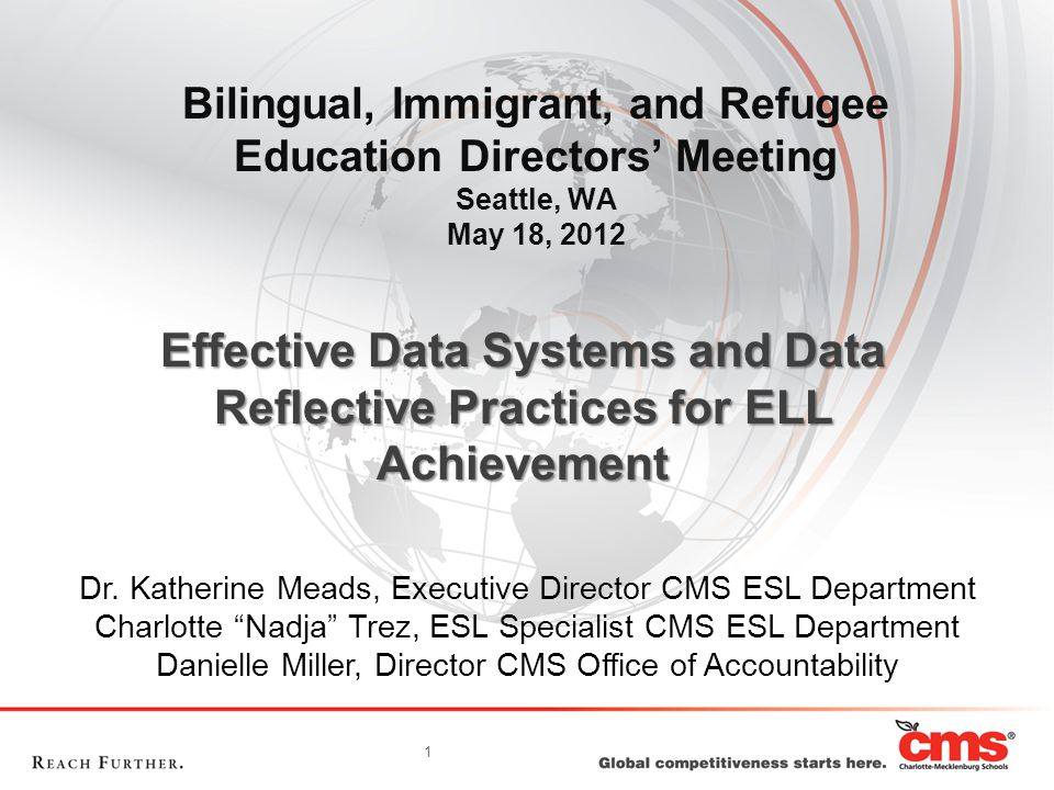 Demographic Information –Grade Level –Student ID –Student Name –NOMS Language –Country of Origin –US School Entry Date –LEP Exit Date –LEP Status –ESL Status