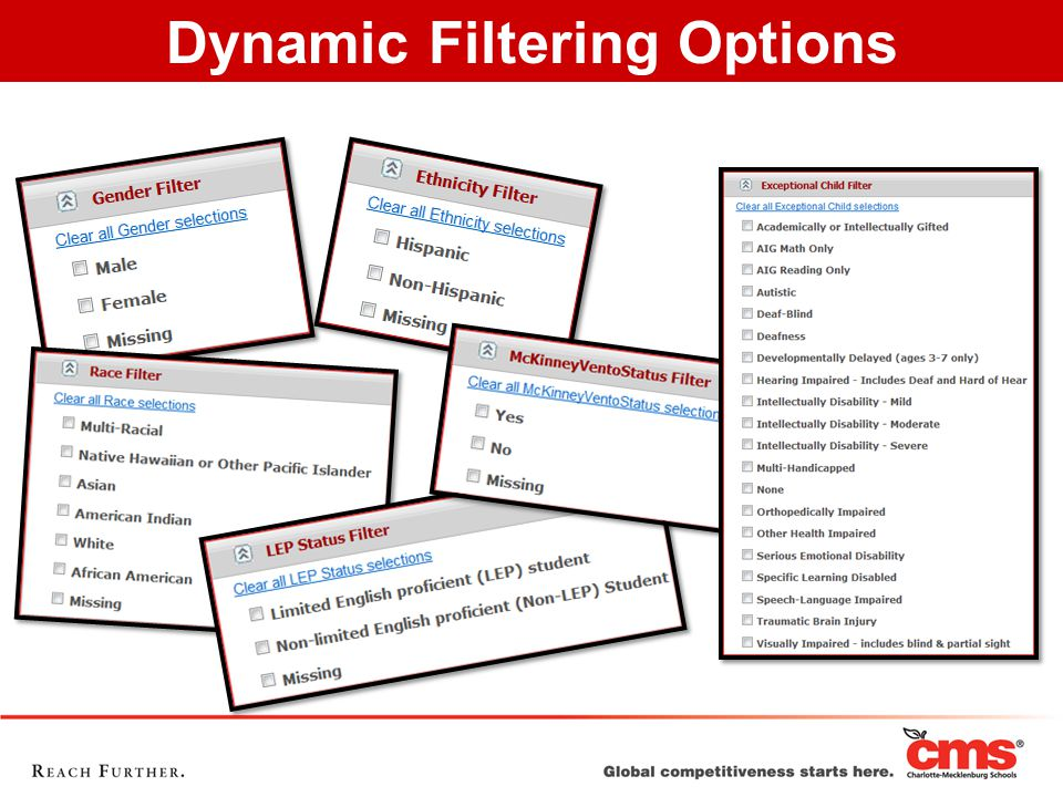 Dynamic Filtering Options