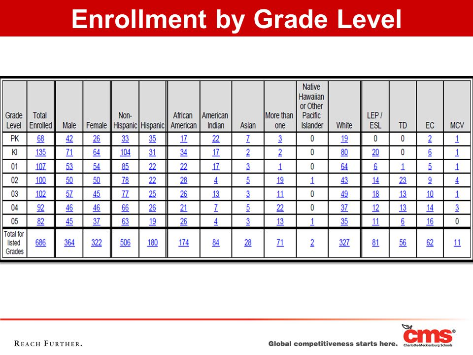 Enrollment by Grade Level