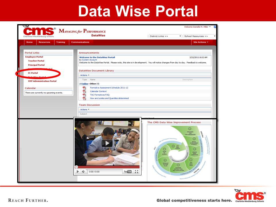 Data Wise Portal