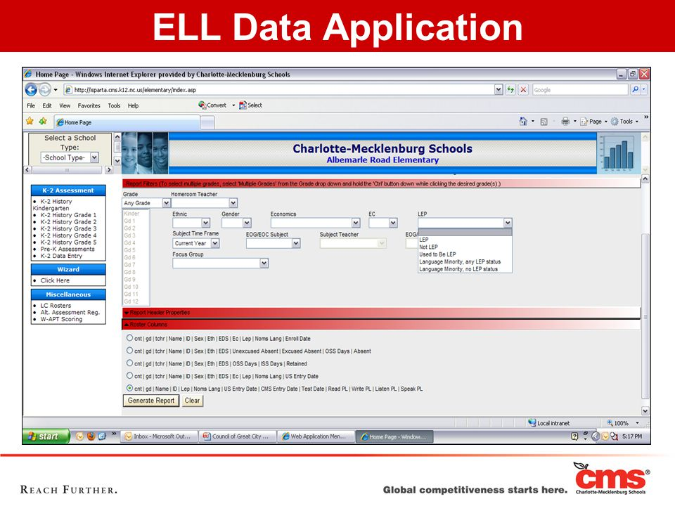 ELL Data Application
