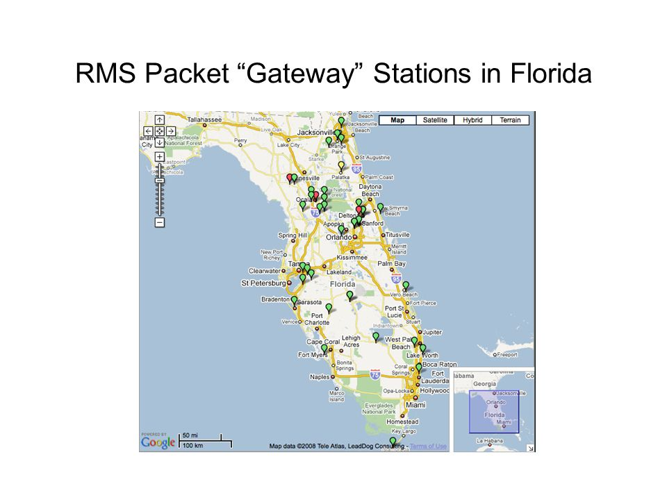 RMS Packet Gateway Stations in Florida