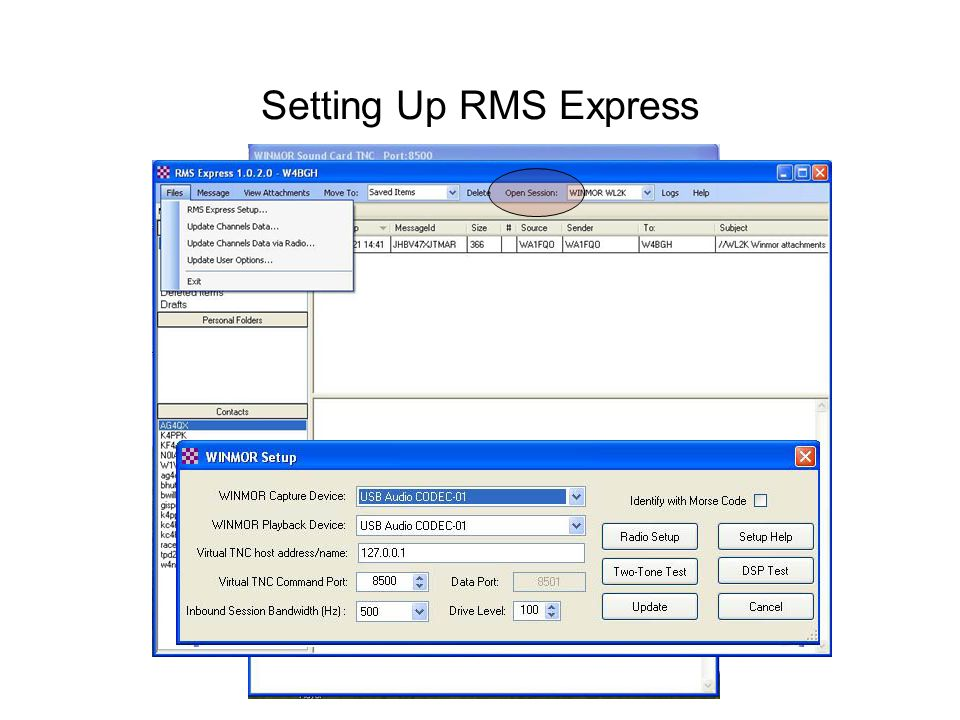 Setting Up RMS Express