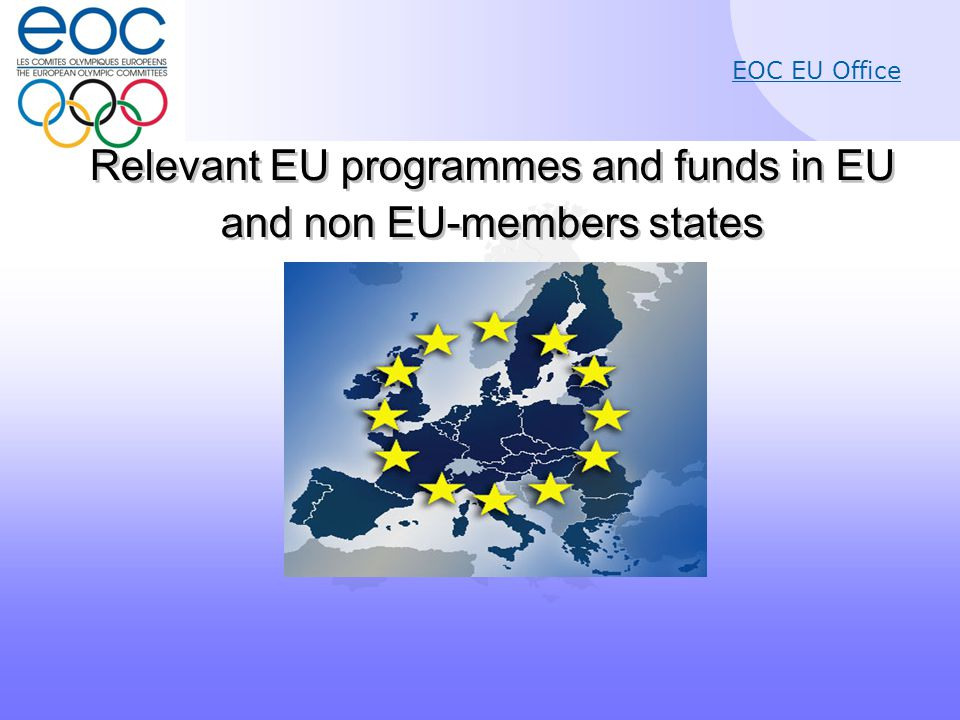 EOC EU Office Article 11: Specific objectives (a)to tackle transnational threats to sport such as doping, match fixing, violence, racism and intolerance; (b)to support good governance in sport and dual careers of athletes; (c)to promote social inclusion, equal opportunities and health- enhancing physical activity through increased participation in sport.
