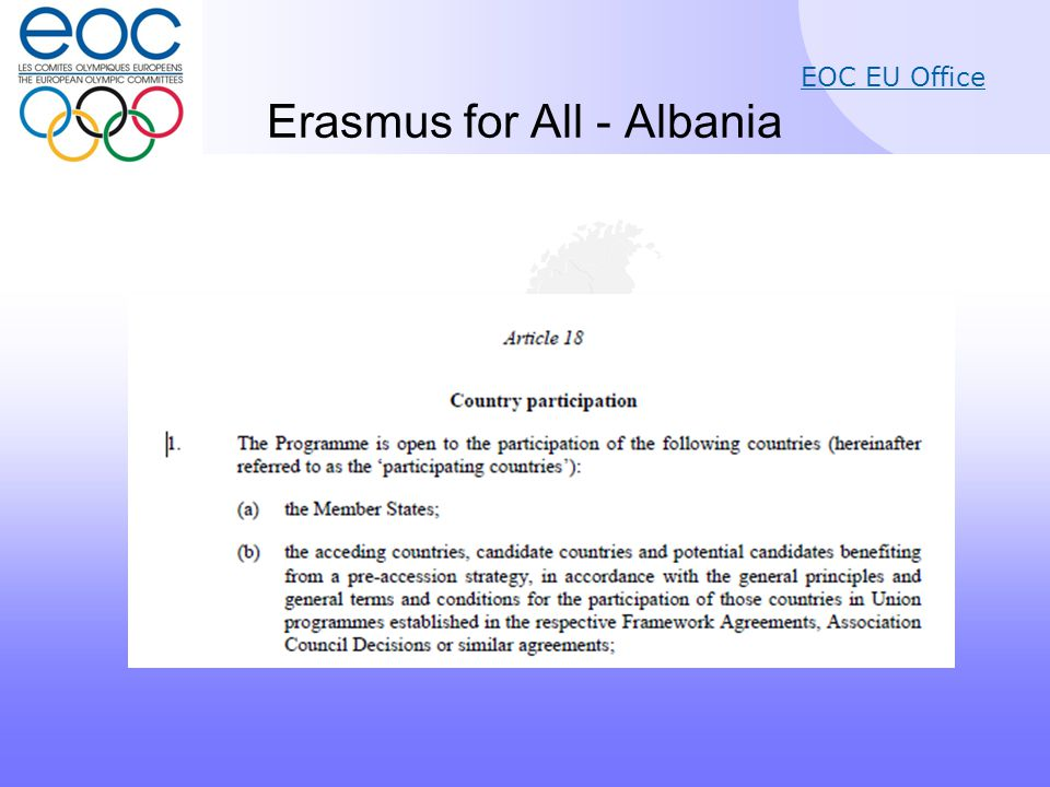 EOC EU Office Erasmus for All - Albania
