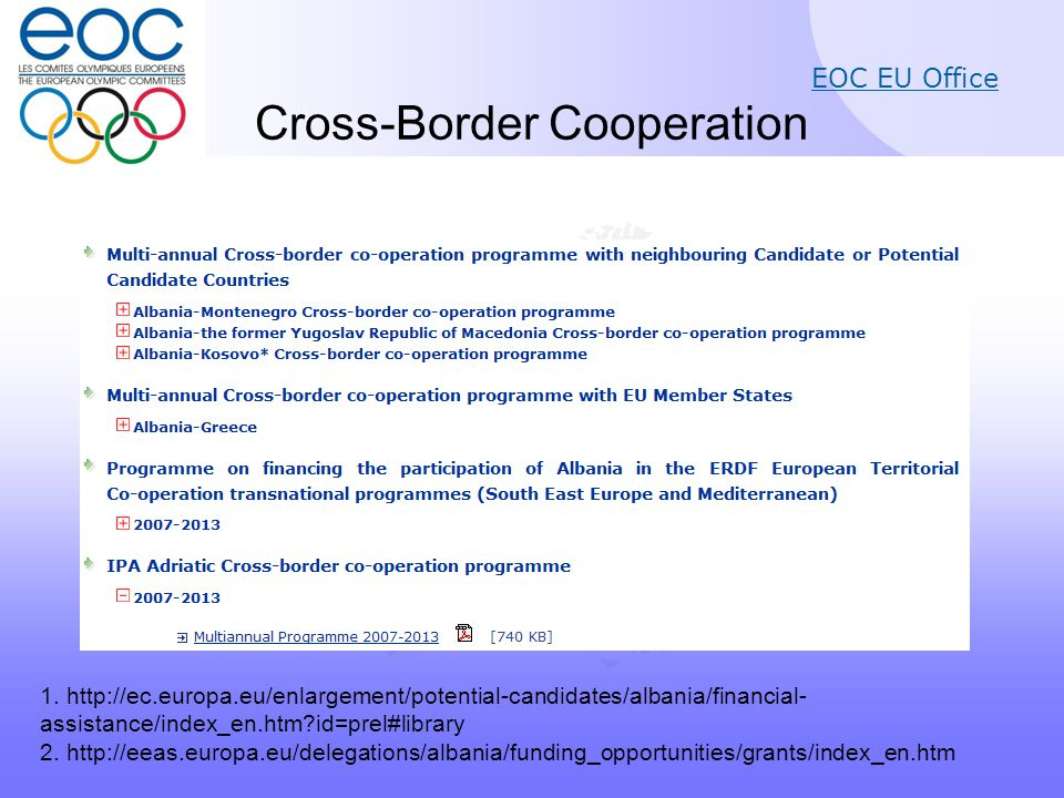 EOC EU Office Cross-Border Cooperation 1.