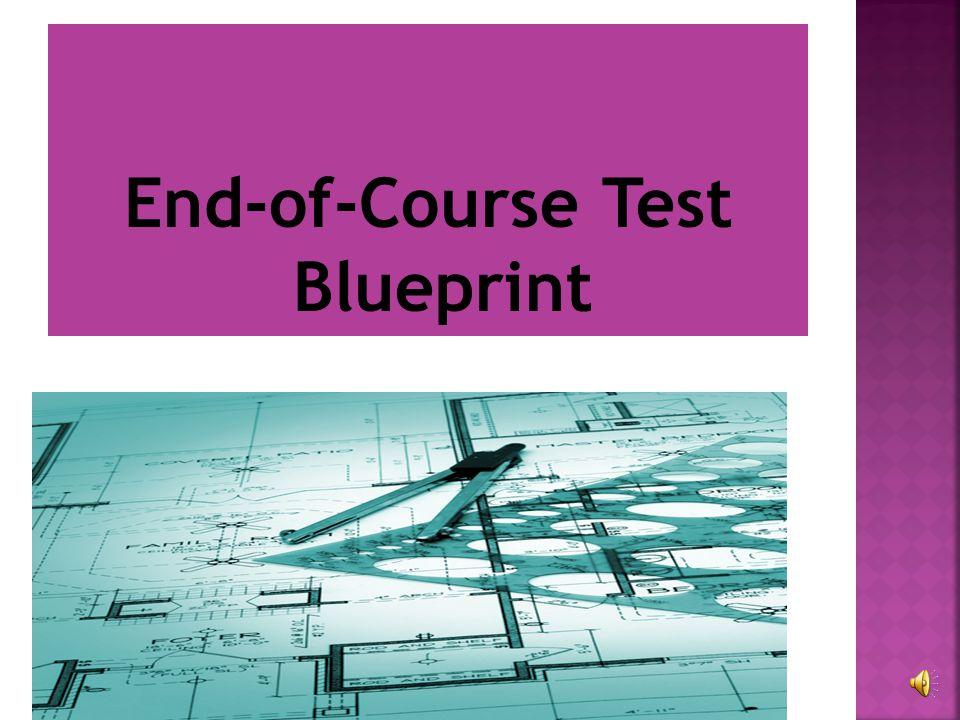 End-of-Course Test Blueprint