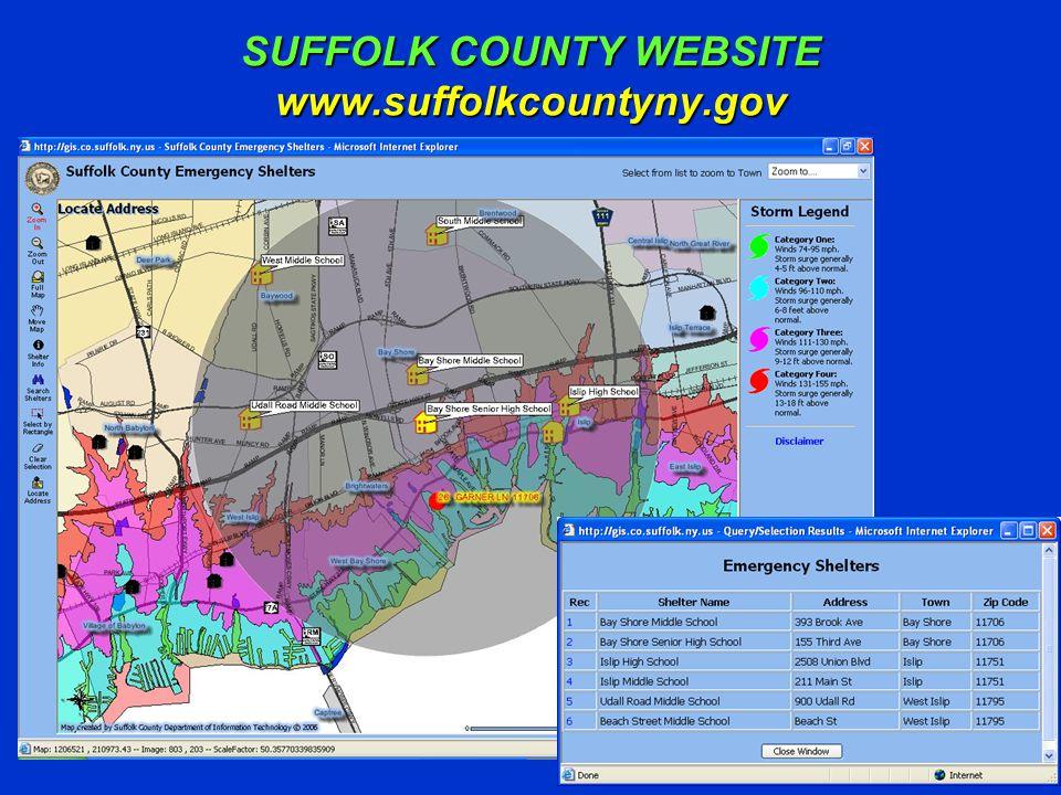 SUFFOLK COUNTY WEBSITE www.suffolkcountyny.gov