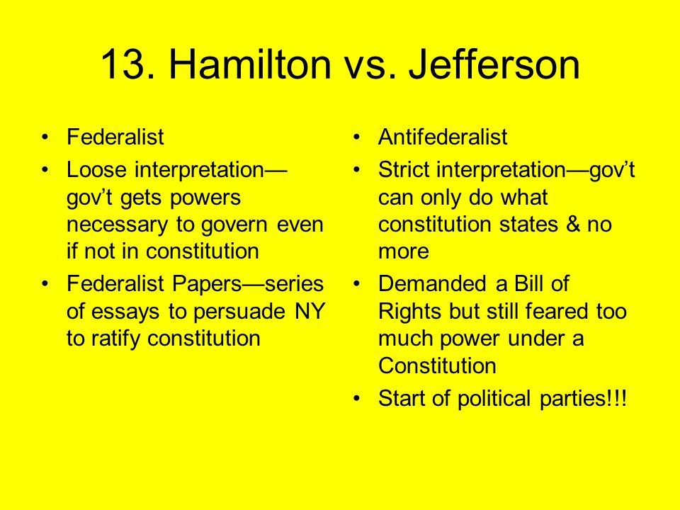 13. Hamilton vs.