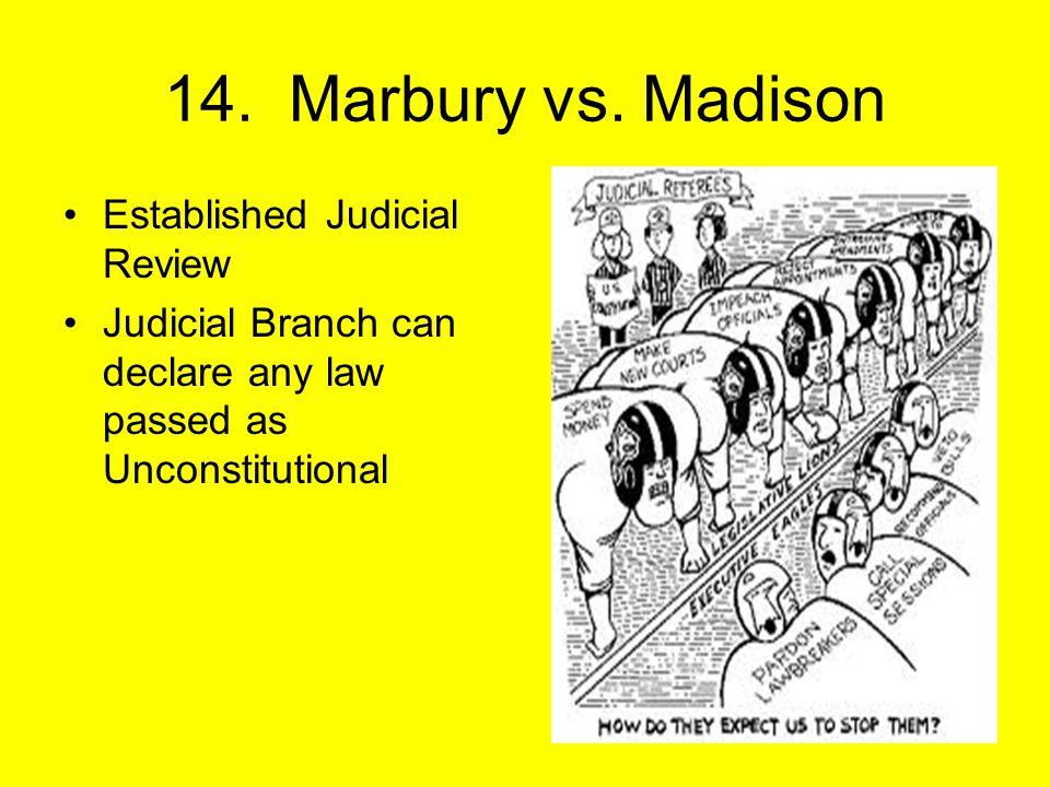 14. Marbury vs.