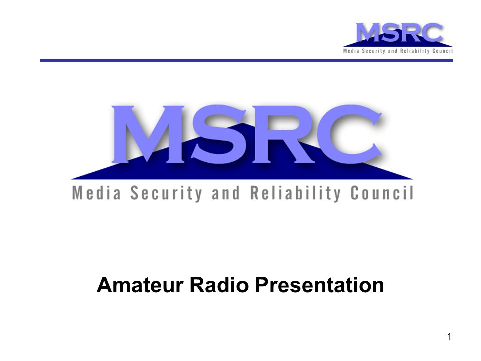 1 Amateur Radio Presentation