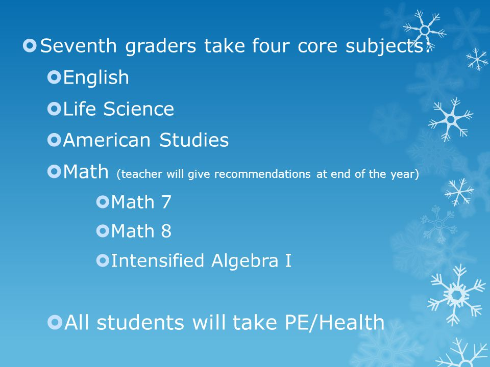 Teen Living SEVENTH GRADE OVER-VIEW: SEMESTER Clothing Construction Foods and Nutrition Personal Development  Reversible Tote-bag  DOUBLE QUILTED  PENCIL POUCH  FIBER FLYER  Safety & Sanitation  My Plate Guidelines  Vegetables  (Mexican Fiesta)  Cheese  Breakfast  Homemade Pizza  Brownie Comparison  Homemade Pie Crust  Top Chef Competition  Babysitting Unit  Modular Laptop Unit  Nutrition Newsletter