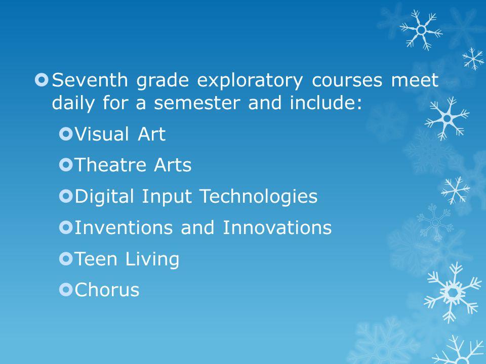 Exploratory classes continued