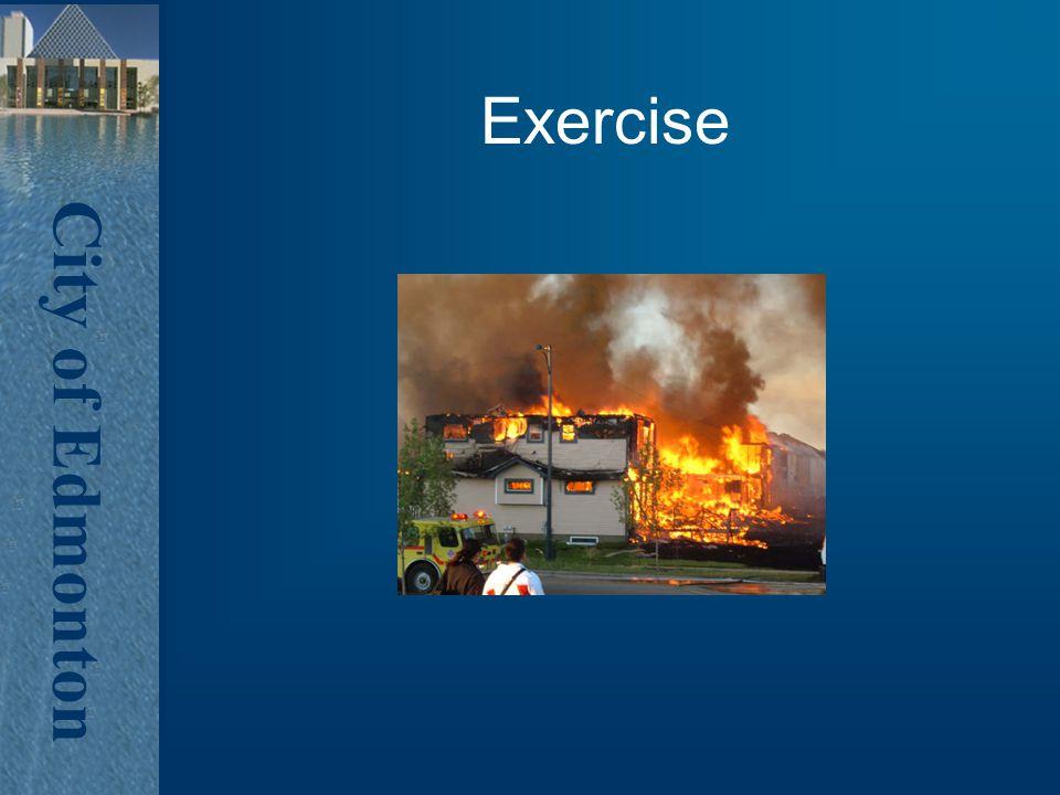 City of Edmonton Exercise
