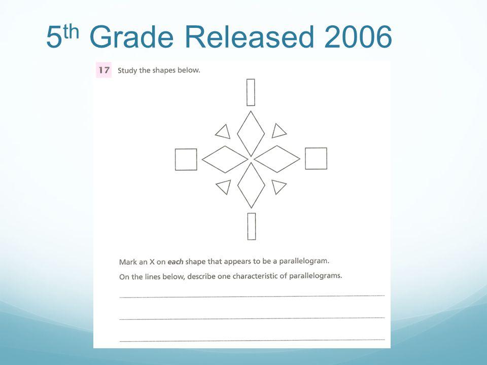 5 th Grade Released 2006