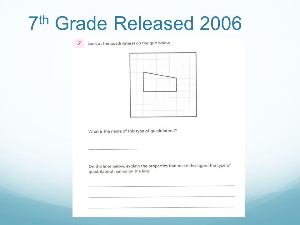 7 th Grade Released 2006